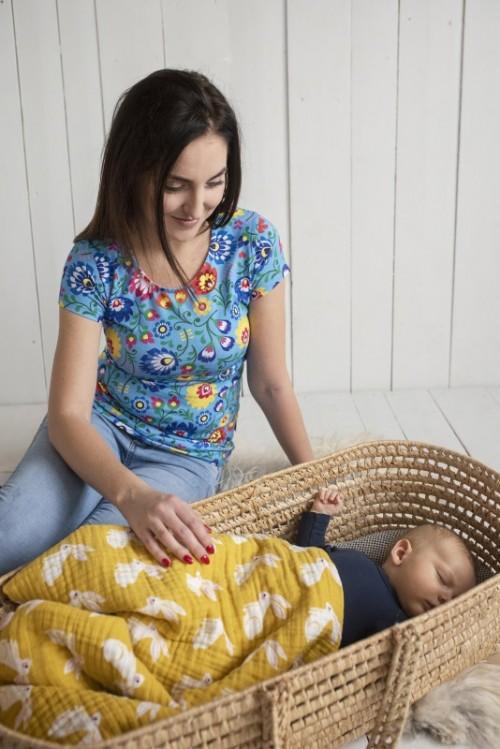 Tričko na dojčenie Folk s krátkym rukávom