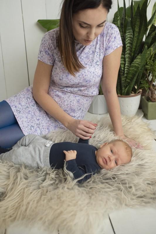 Šaty na dojčenie Lila
