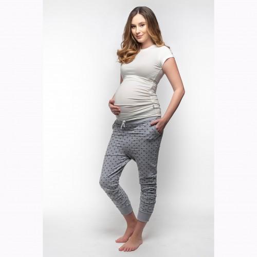 Tehotenské tepláky so zníženým sedom