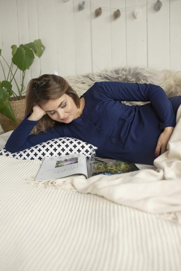 Tehotenská nočná košeľa na dojčenie