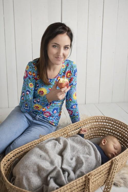 Tričko na dojčenie Folk dlhý rukáv