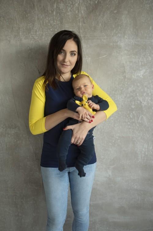 Tričko na dojčenie s raglánovým 3/4 rukávom