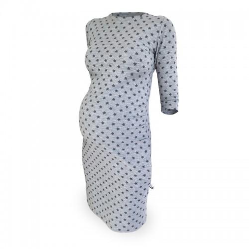 Teplákové tehotenské šaty Star