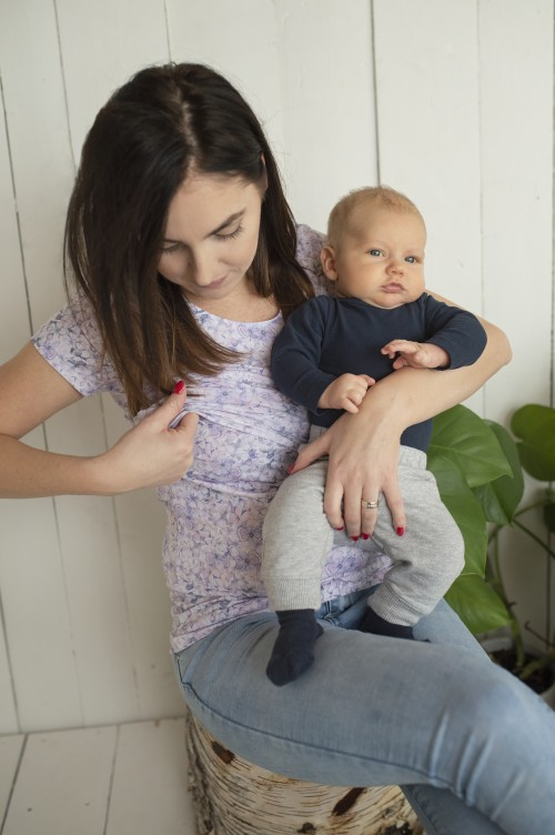 Tričko na dojčenie Lila